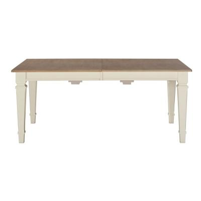Rockport White and Driftwood Rectangle Extension Dining Table