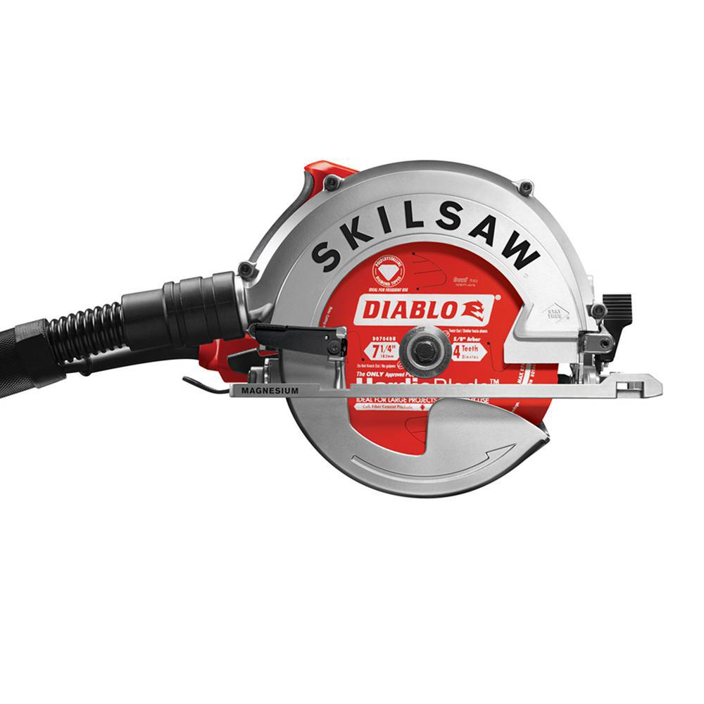 SKILSAW 15 Amp Corded Electric 7-1/4 in. SIDEWINDER Circular Saw for Fiber Cement with Hardie Blade and Dust Collection System