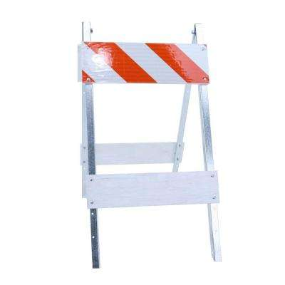 8 in. Plywood/Galvanized High-Intensity Sheeting Type I Folding Barricade