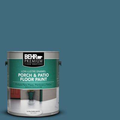 1 gal. #S480-6 Poseidon Low-Lustre Porch and Patio Floor Paint