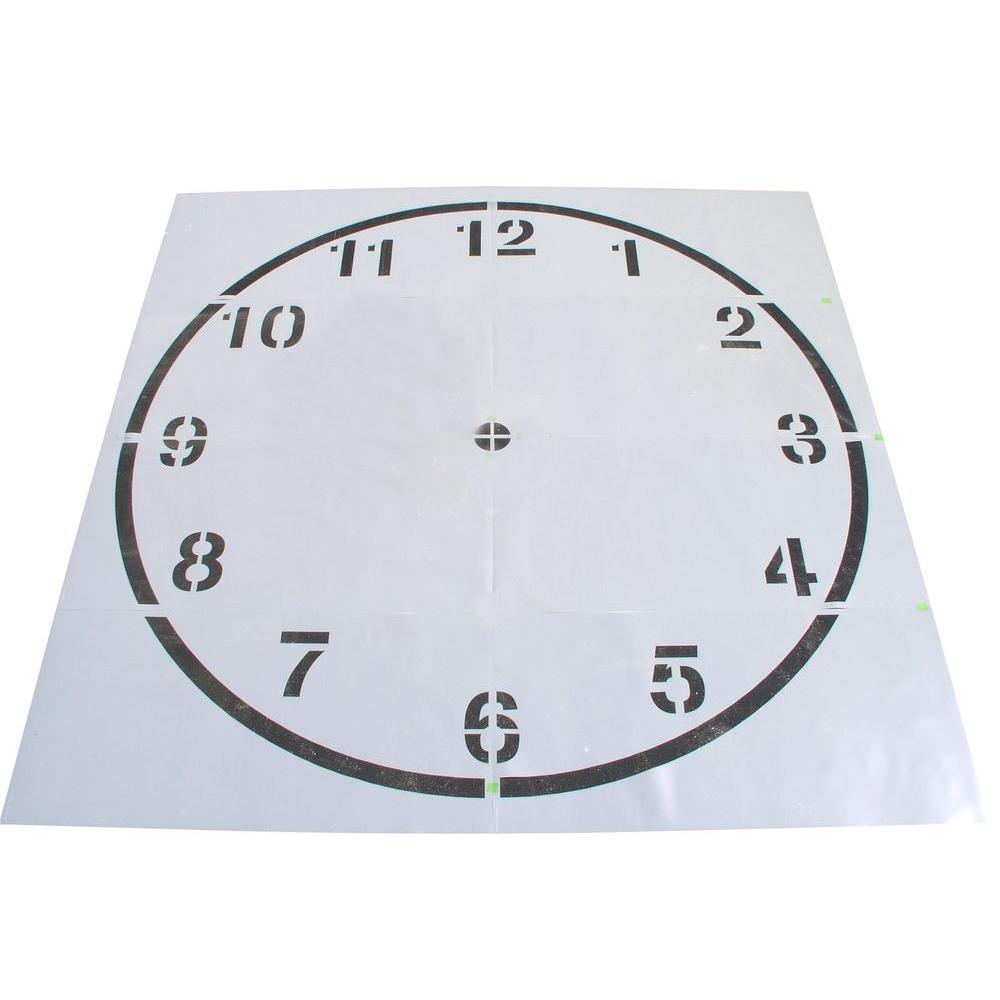 Stencil Ease 16 Ft Clock Stencil Cc0302a192 The Home Depot