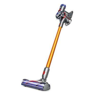 'V8 Absolute Cordless Stick Vacuum Cleaner' from the web at 'https://images.homedepot-static.com/productImages/39792feb-9afb-4929-8113-47cdb0677111/svn/dyson-stick-vacuums-214730-01-64_400_compressed.jpg'