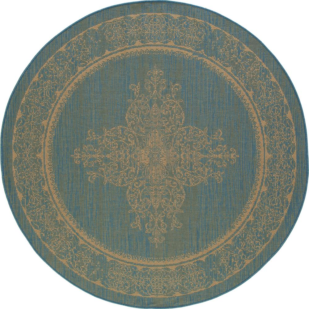 Art Carpet Plymouth Nest Blue 8 Ft X 8 Ft Round Indoor