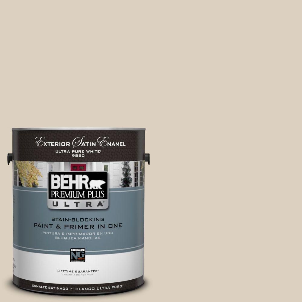 BEHR Premium Plus Ultra 1-Gal. #UL170-11 Roman Plaster Satin Enamel Exterior Paint