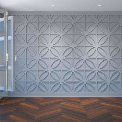 3/8 in. x 23-3/8 in. x 23-3/8 in. Large Swansea White Architectural Grade PVC Decorative Wall Panels