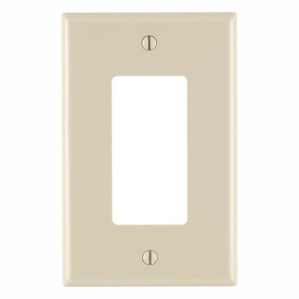 Decora 1-Gang Midway Nylon Wall Plate, Light Almond (10-Pack)