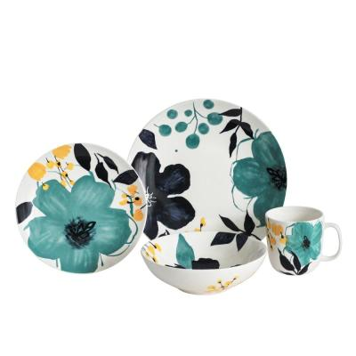 Bella 16-Piece Floral Dinnerware Set
