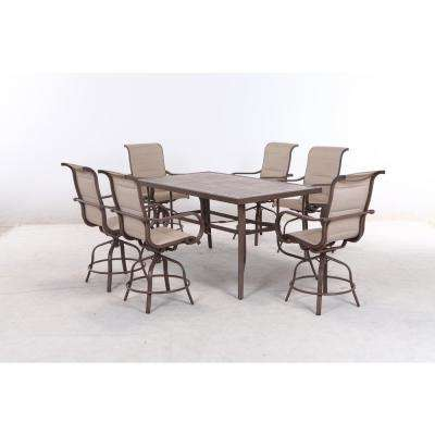 Sun Valley 7-Piece Aluminum Outdoor Bar Height Dining Set