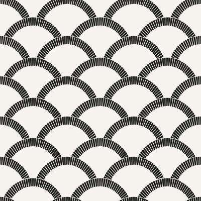 Mosaic Scallop Vinyl Peelable Wallpaper (Covers 28 sq. ft.)