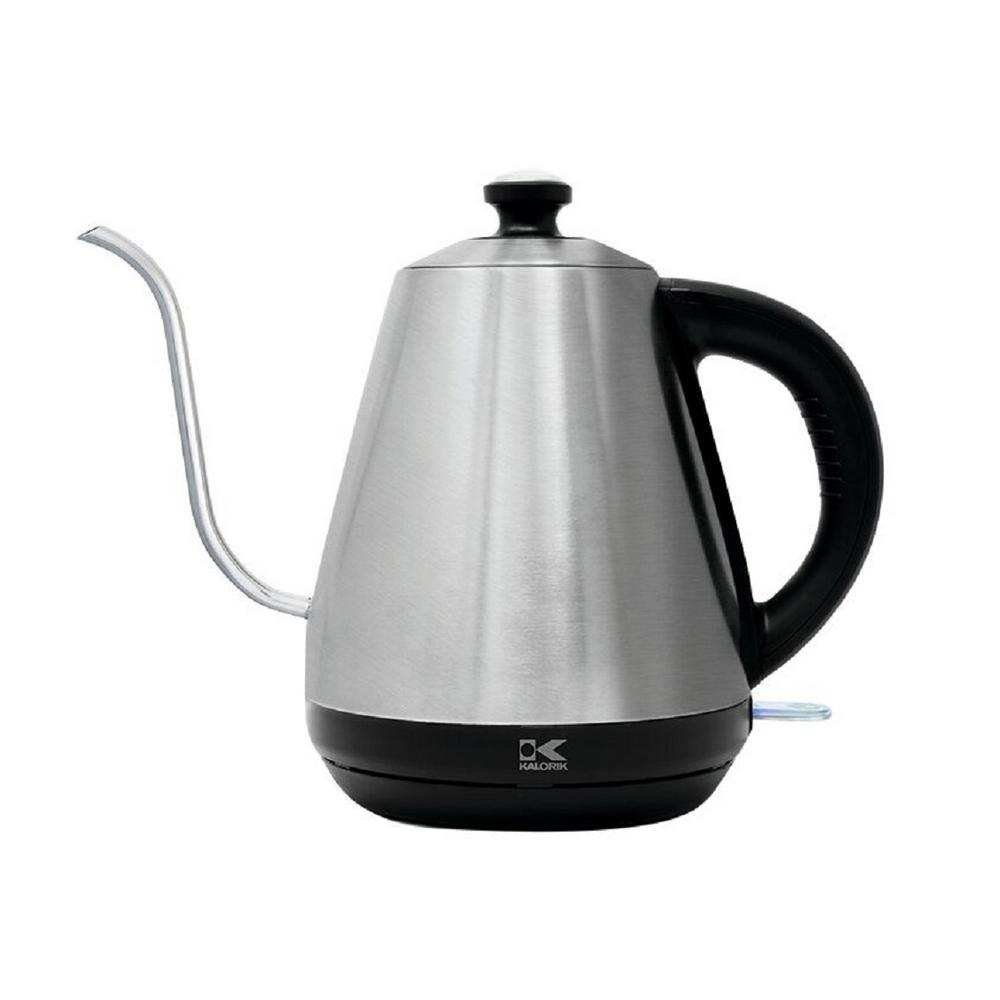 Precision 4.2-Cup Stainless Steel Electric Kettle with Thermometer, Silver Precision 4.2-Cup Stainless Steel Electric Kettle with Thermometer, Silver