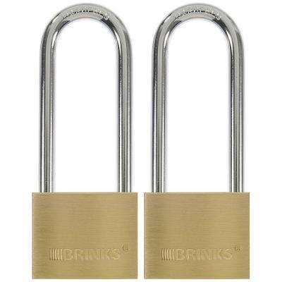1-9/16 in. (40 mm) Keyed Lock with 2-1/2 in. Shackle (2-Pack)