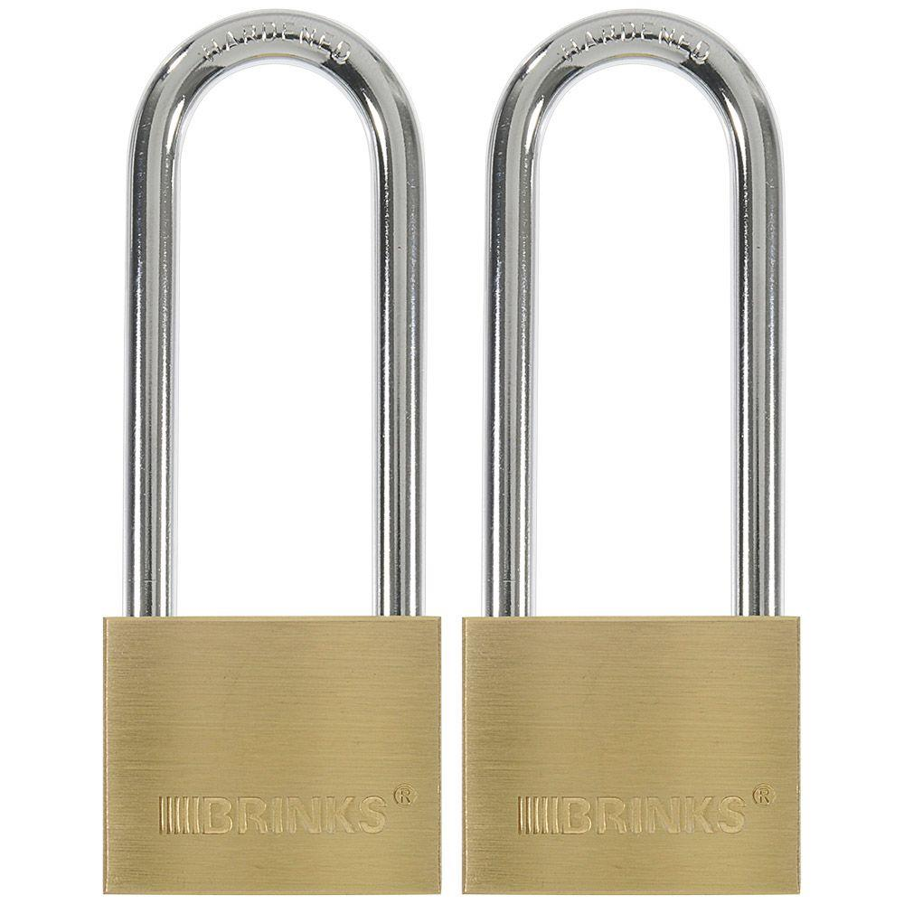 Brinks 1-9/16 in. (40 mm) Keyed Lock with 2-1/2 in. Shackle (2-Pack)