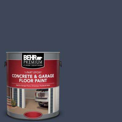 1 gal. #M500-7 Very Navy 1-Part Epoxy Satin Interior/Exterior Concrete and Garage Floor Paint