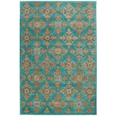 Teal Safavieh 6 X 9 Area Rugs Rugs The Home Depot