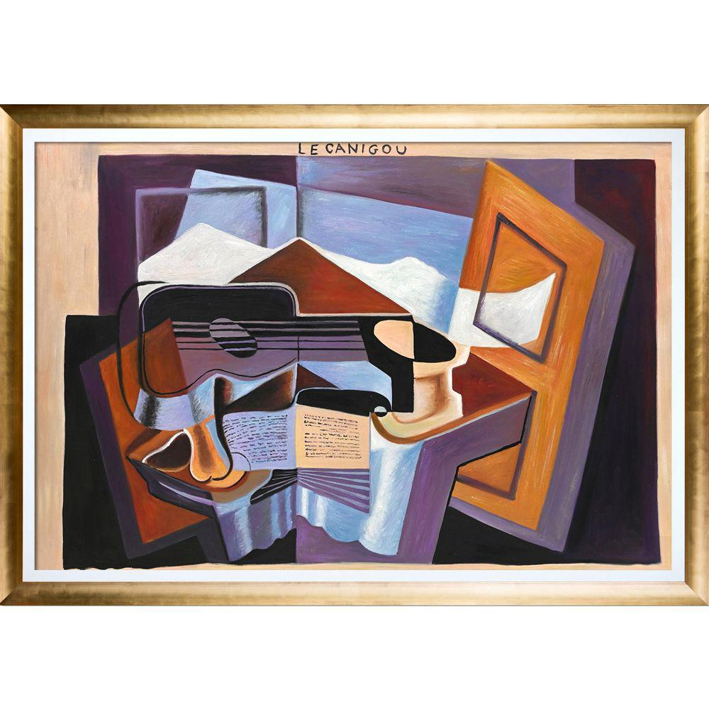 LA PASTICHE Le Canigou with Gold Luminoso with Studio White Custom Stacked Frameby Juan Gris Oil Painting, Multi-Colored was $1296.0 now $630.4 (51.0% off)