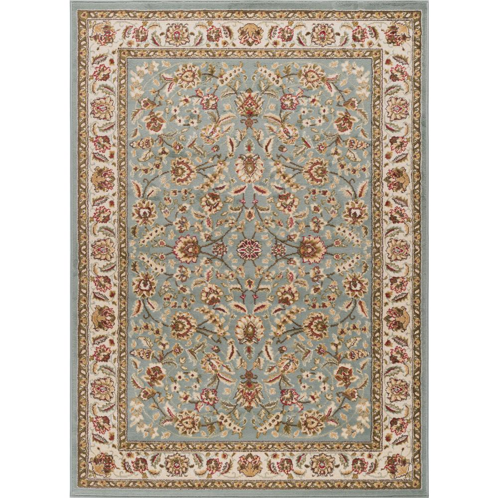 Tayse Rugs Laguna Blue 9 Ft X 13 Ft Indoor Area Rug 5076