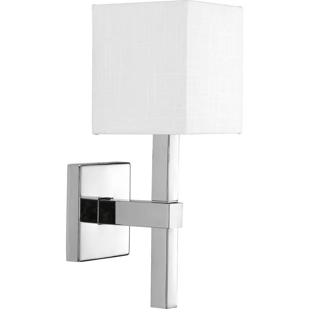 Progress Lighting Metro Collection 1-Light Polished Chrome Wall Sconce  sc 1 st  Home Depot & Progress Lighting Metro Collection 1-Light Polished Chrome Wall ...