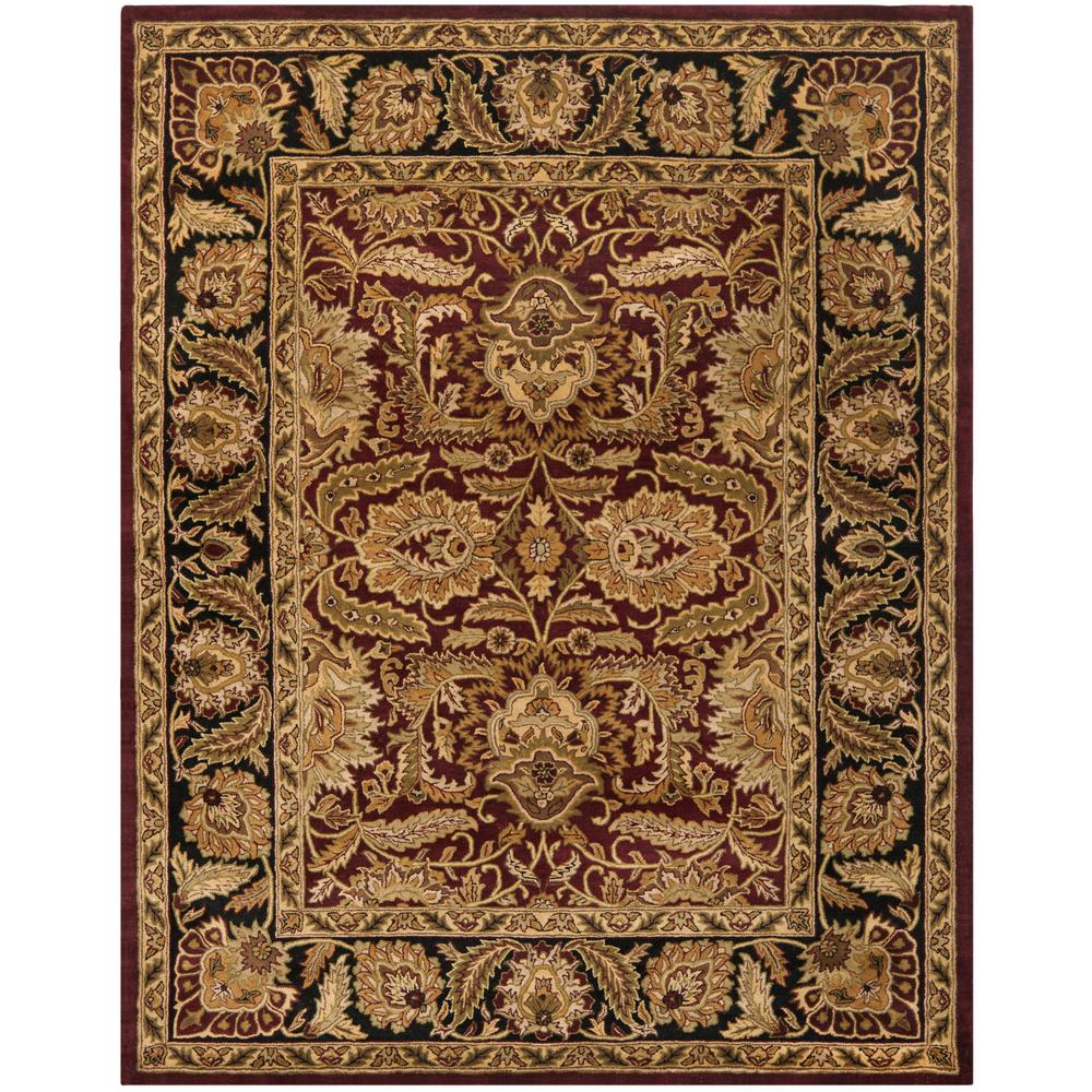 Safavieh Classic Burgundy/Black 6 Ft. X 9 Ft. Area Rug