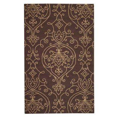 Kenilworth Chocolate/Gold 9 ft. x 12 ft. Area Rug