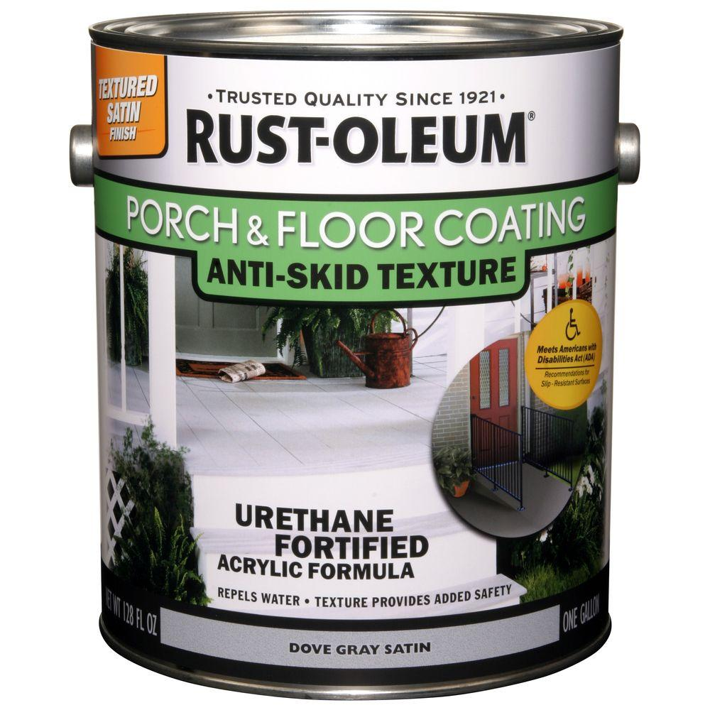 Rust oleum porch and floor 1 gal dove gray anti skid - Exterior textured paint home depot ...