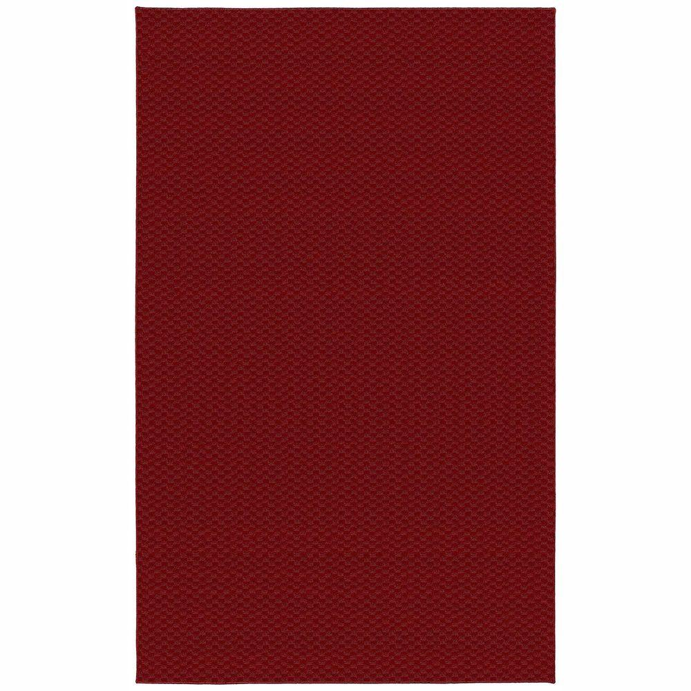Garland Rug Medallion Chili Red 6 Ft X 9 Ft Area Rug Ma