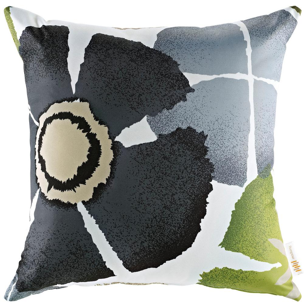 Square Outdoor Throw Pillow in Botanical