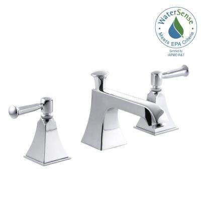Memoirs 8 in. Widespread 2-Handle Low Arc Water-Saving Bathroom Faucet in Polished Chrome with Stately Design