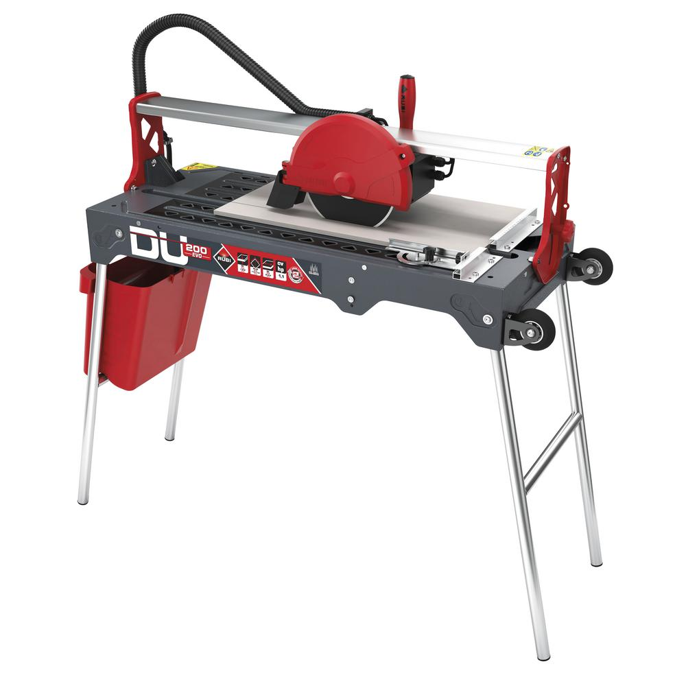 Rubi 8 In 120 Volt Tile Saw Du Evo 26 In 55907 The Home Depot