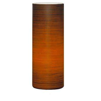 Brown Sugar 7.852 in. Red and Brown Table Lamp
