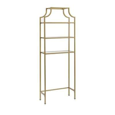 Aimee 27.25 in. W x 73 in. H x 11 in. D Space Saver in Soft Gold