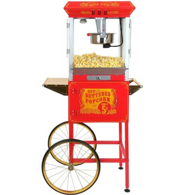 Sideshow Popper 8 oz. Popcorn Machine & Cart