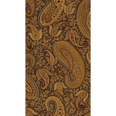 Nathaniel Black Modern Paisley Wallpaper
