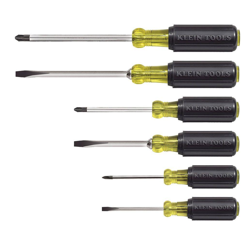 6-Piece Assorted Screwdriver Set - Cushion Grip Handles