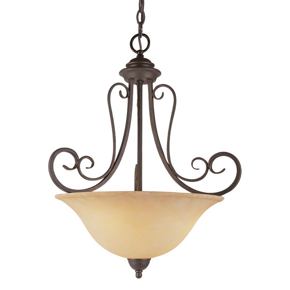 Laredo 3-Light Antique Bronze Pendant