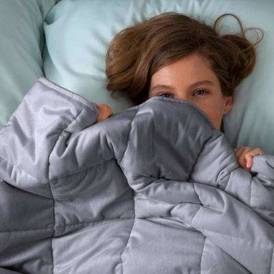 Grey 18 lb. Weighted Blanket