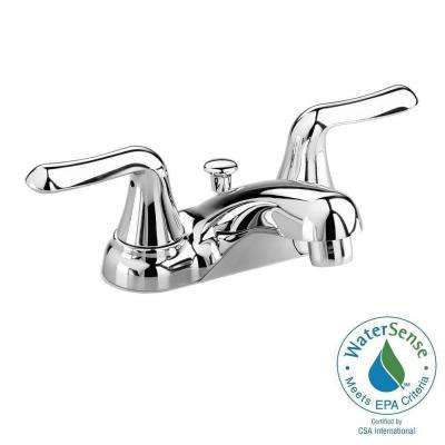 Colony Soft 4 in. Centerset 2-Handle Low-Arc Bathroom Faucet in Polished Chrome with Speed Connect Drain