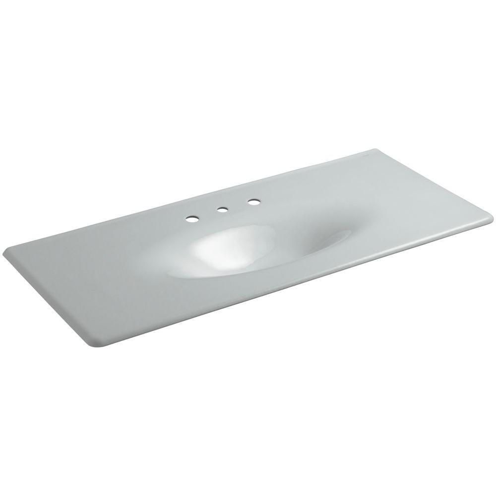 KOHLER Iron/Impressions 49-5/8 in. Cast Iron Single Basin Vanity Top in Ice Grey