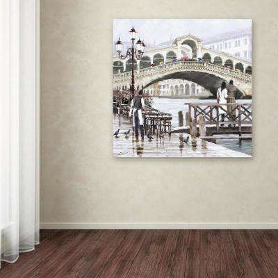"35 in. x 35 in. ""Rialto Bridge"" by The Macneil Studio Printed Canvas Wall Art"