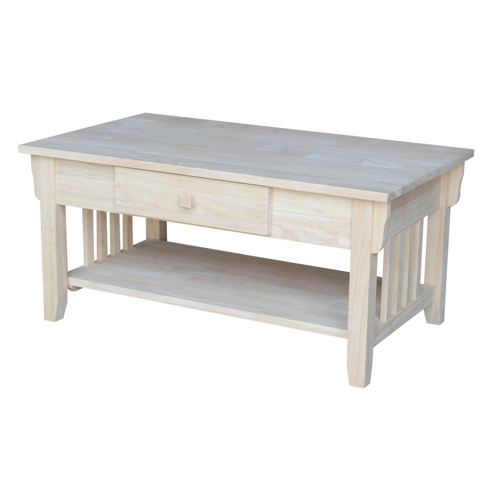 International Concepts Unfinished Bench Be 1: International Concepts Unfinished Coffee Table-OT-61C