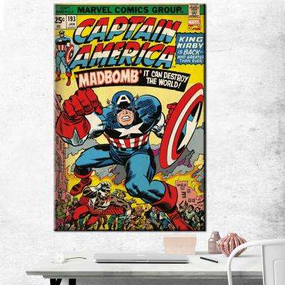 "24 in. x 36 in. ""Captain America - #193"" Printed Canvas Wall Art"