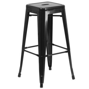 30 in. Black Bar Stool