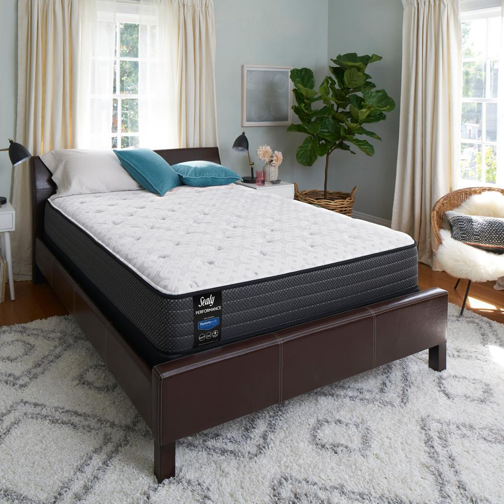 Sealy Response Performance 12 In Queen Cushion Firm Top Mattress Set With 9 High Profile Foundation