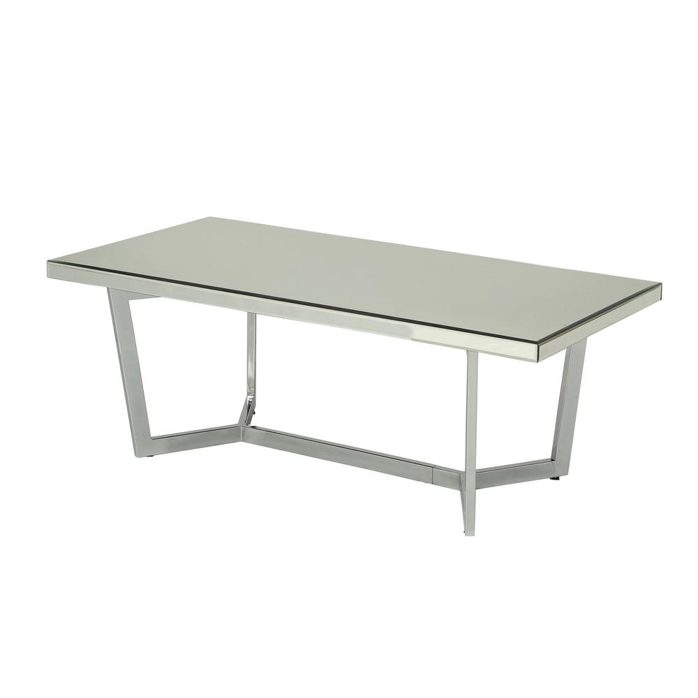 Hastin Mirrored and Chrome Coffee Table