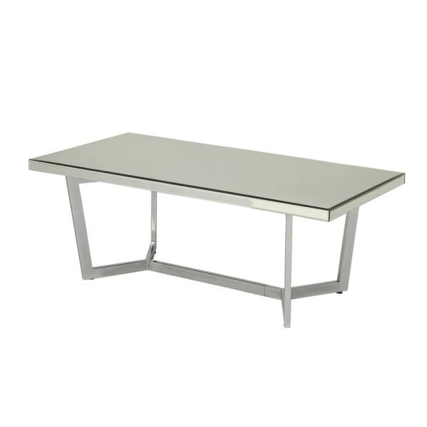 Acme Furniture Hastin Mirrored and Chrome Coffee Table 80980