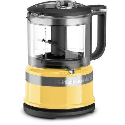 Mini 3.5-Cup 2-Speed Majestic Yellow Food Processor with Pulse Control