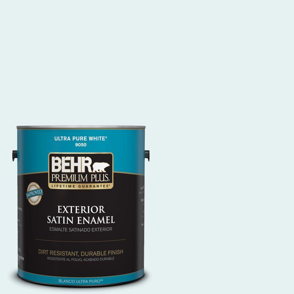 1-gal. #BL-W4 Ethereal White Satin Enamel Exterior Paint