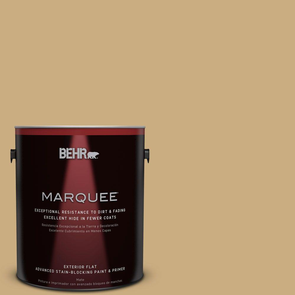 BEHR MARQUEE 1-gal. #S310-4 Perennial Gold Flat Exterior Paint