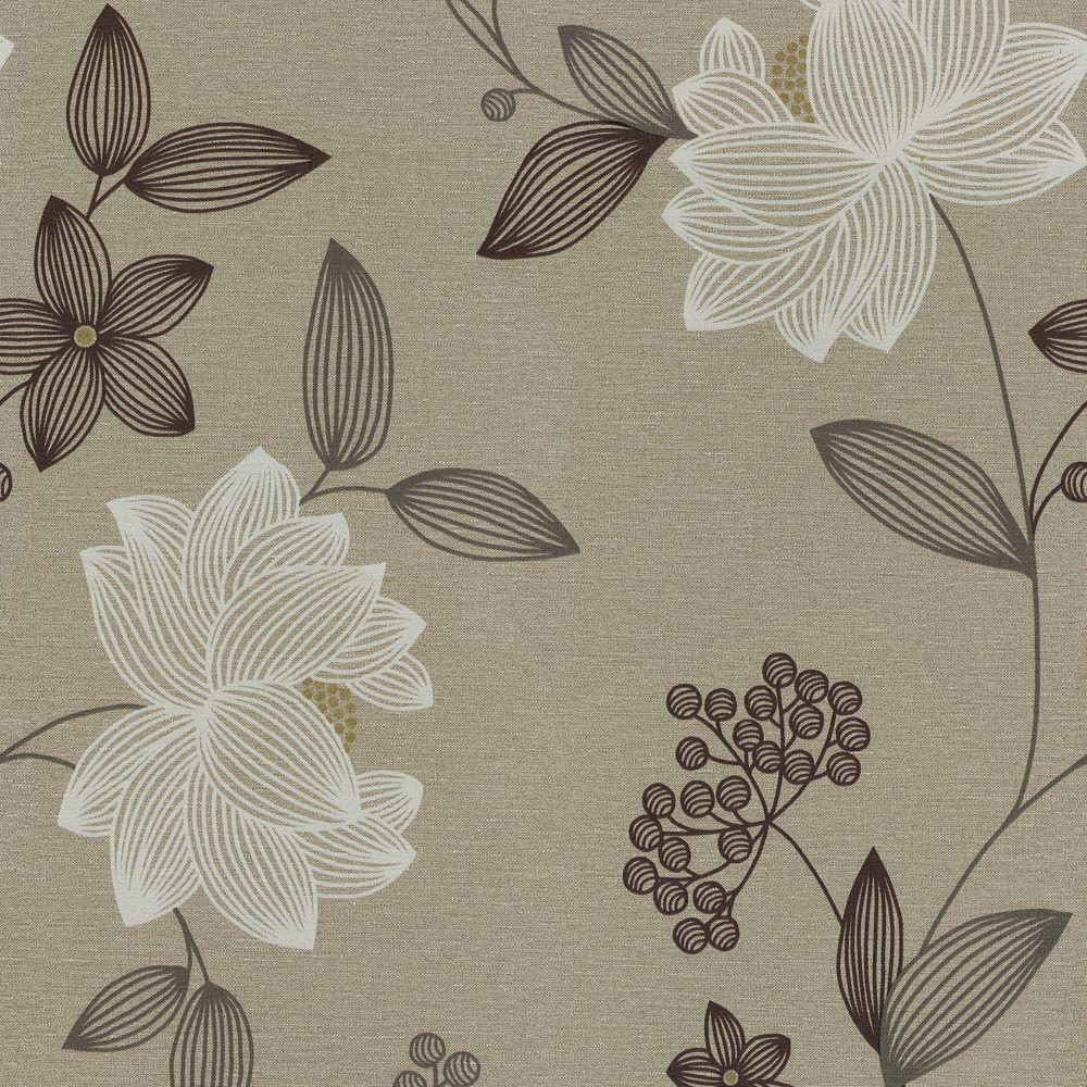 The Wallpaper Company 56 sq. ft. Limani Floral Wallpaper -DISCONTINUED