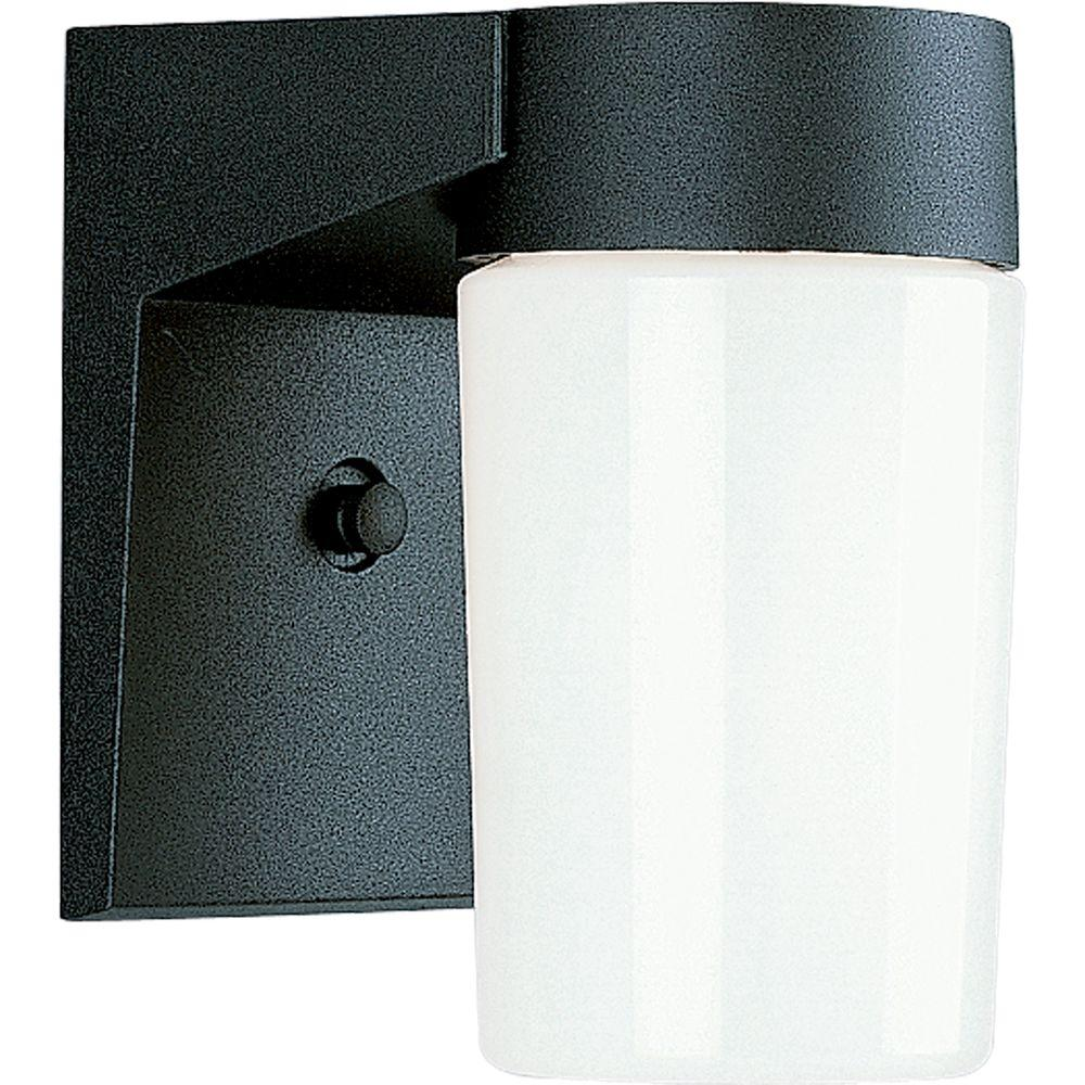 Progress Lighting 1-Light Outdoor Black Wall Lantern Sconce