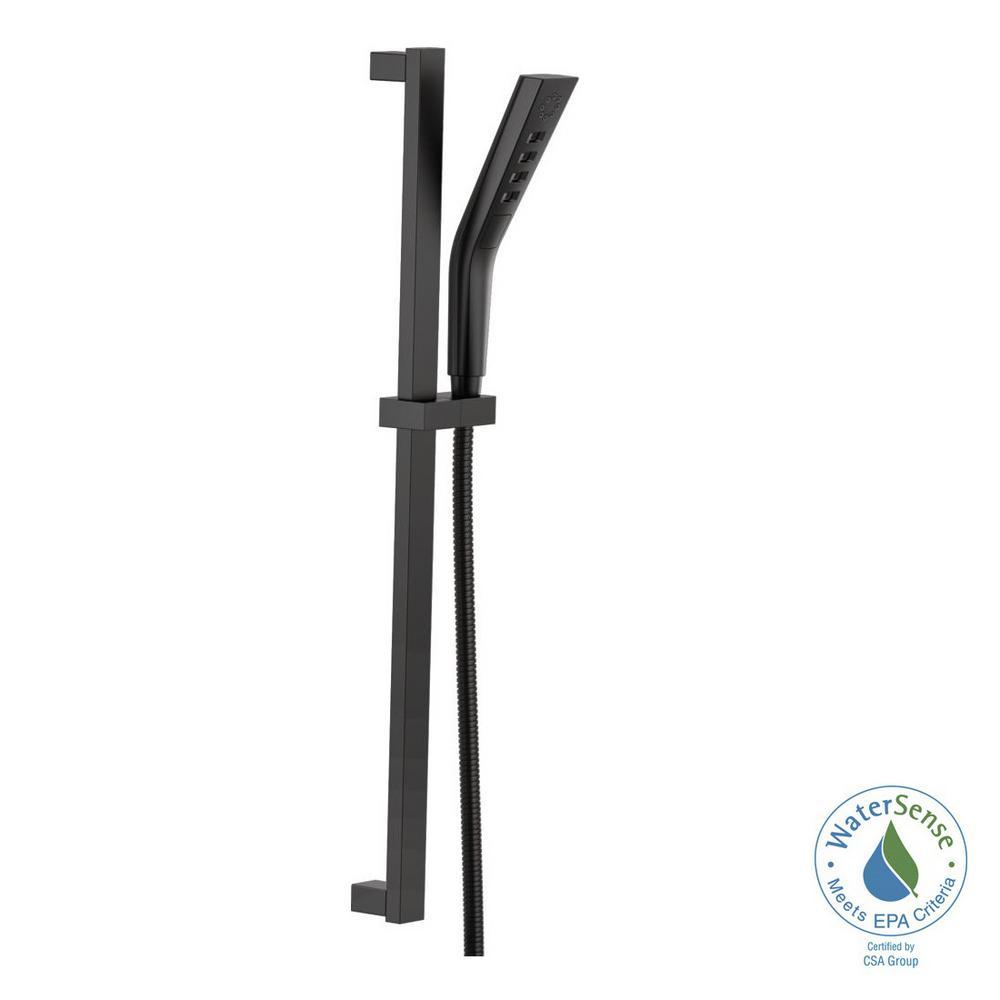 Pivotal 3-Spray H2OKinetic Hand Shower with Slide Bar in Matte Black